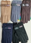 Мужские перчатки - искусств. замша/сенсор 193