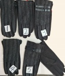 Мужские перчатки -трикотаж/комбинир. В1802