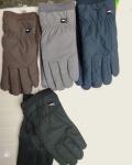 Мужские перчатки искусств. замш/сенсорные 181