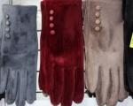 Женские перчатки искусственный бархат Е19