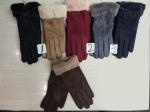 Женские перчатки-замша/сенсорные 1834