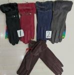 Женские перчатки-замша/сенсорные 165