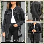 Женская джинсовая куртка полубатал