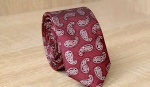 Узкий галстук жаккард U-127