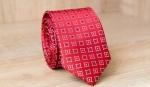 Узкий галстук жаккард U-153