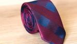Узкий галстук жаккард U-202