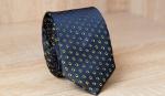 Узкий галстук жаккард U-212