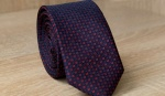 Узкий галстук жаккард U-215