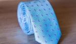Узкий галстук жаккард U-28