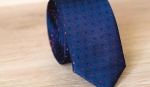 Узкий галстук жаккард U-99