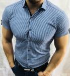 Мужские рубашки с коротким рукавом 2762-2