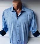 Мужские рубашки длинный рукав - батал Б3202-1
