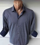 Мужские рубашки длинный рукав - батал Б3202-9