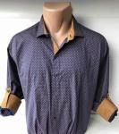 Мужские рубашки длинный рукав - батал Б3202-3