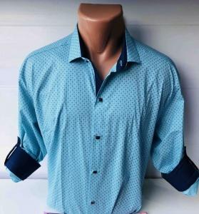 Мужские рубашки длинный рукав - батал Б3202-4