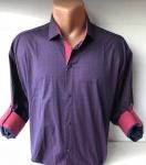 Мужские рубашки длинный рукав - батал Б3202-7