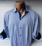 Мужские рубашки длинный рукав - батал Б3202-8